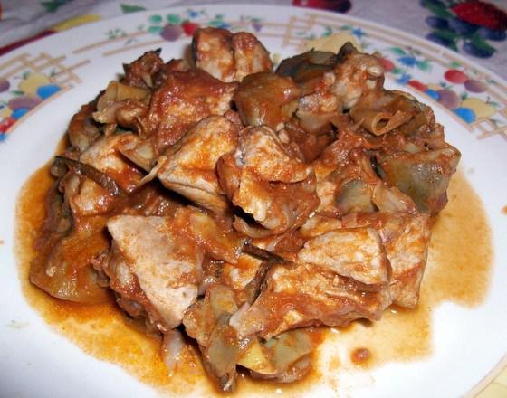 pollo e carciofi
